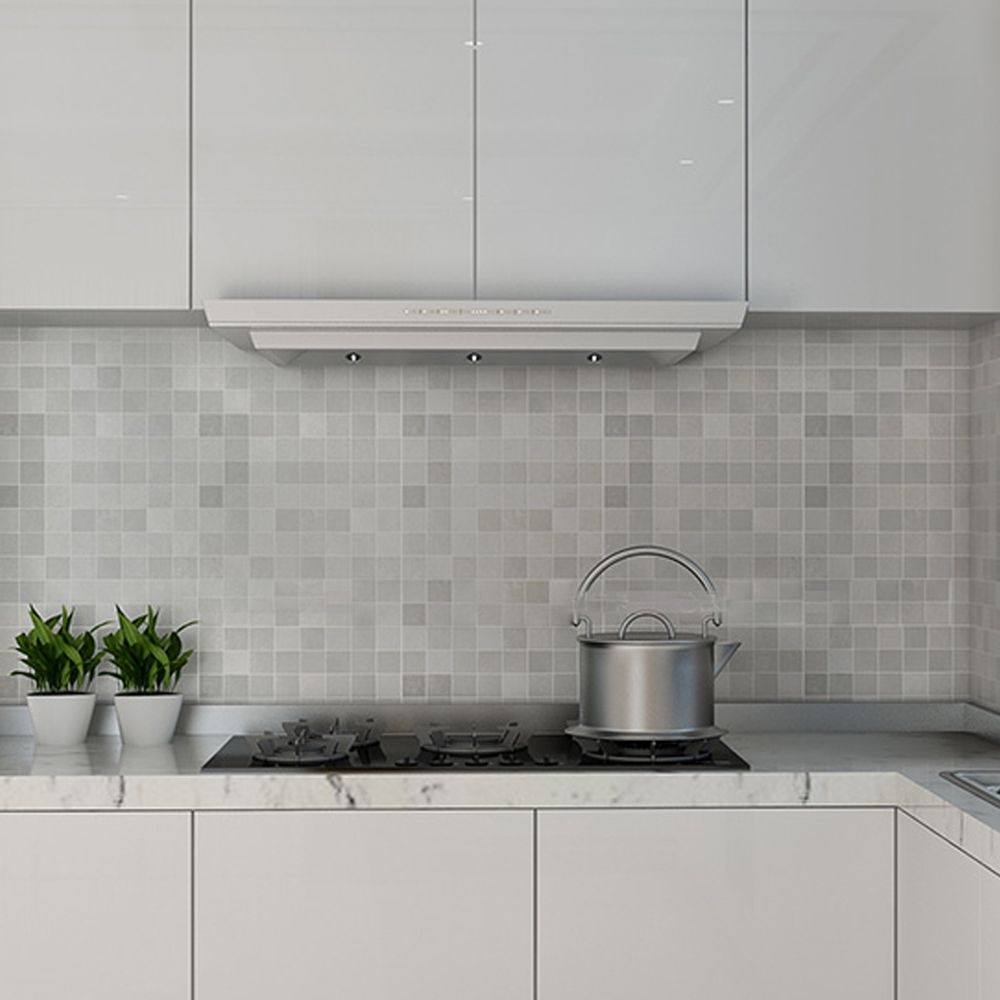 Yazi Silver Mosaic Aluminum Wallpaper Anti Oil And High Temperature Sticker Kitchen Cabinet Stove Kitchen Wallpaper Kitchen Wall Covering Kitchen Wall Stickers