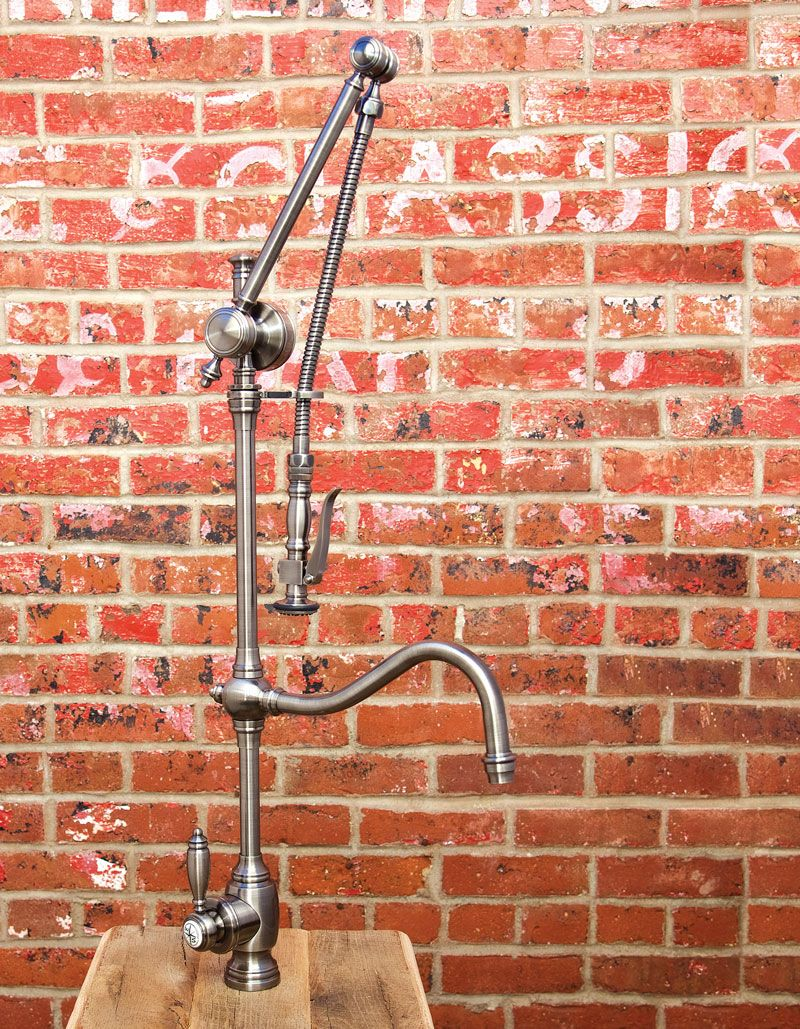 Waterstone Gantry Pulldown Faucet 4400 Shown In Antique Pewter