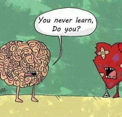 قد يفوز المخ على القلب