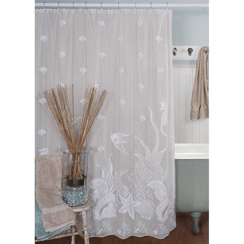beachy shower curtains | Seascape Shower Curtain - | Home decor ...