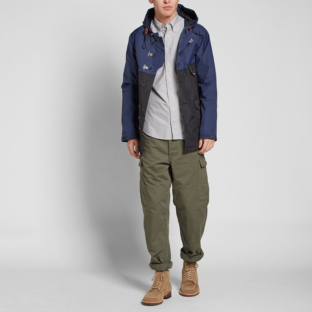 7f870ace527b Nigel Cabourn Classic Cameraman Jacket (Royal Blue   Black Navy ...