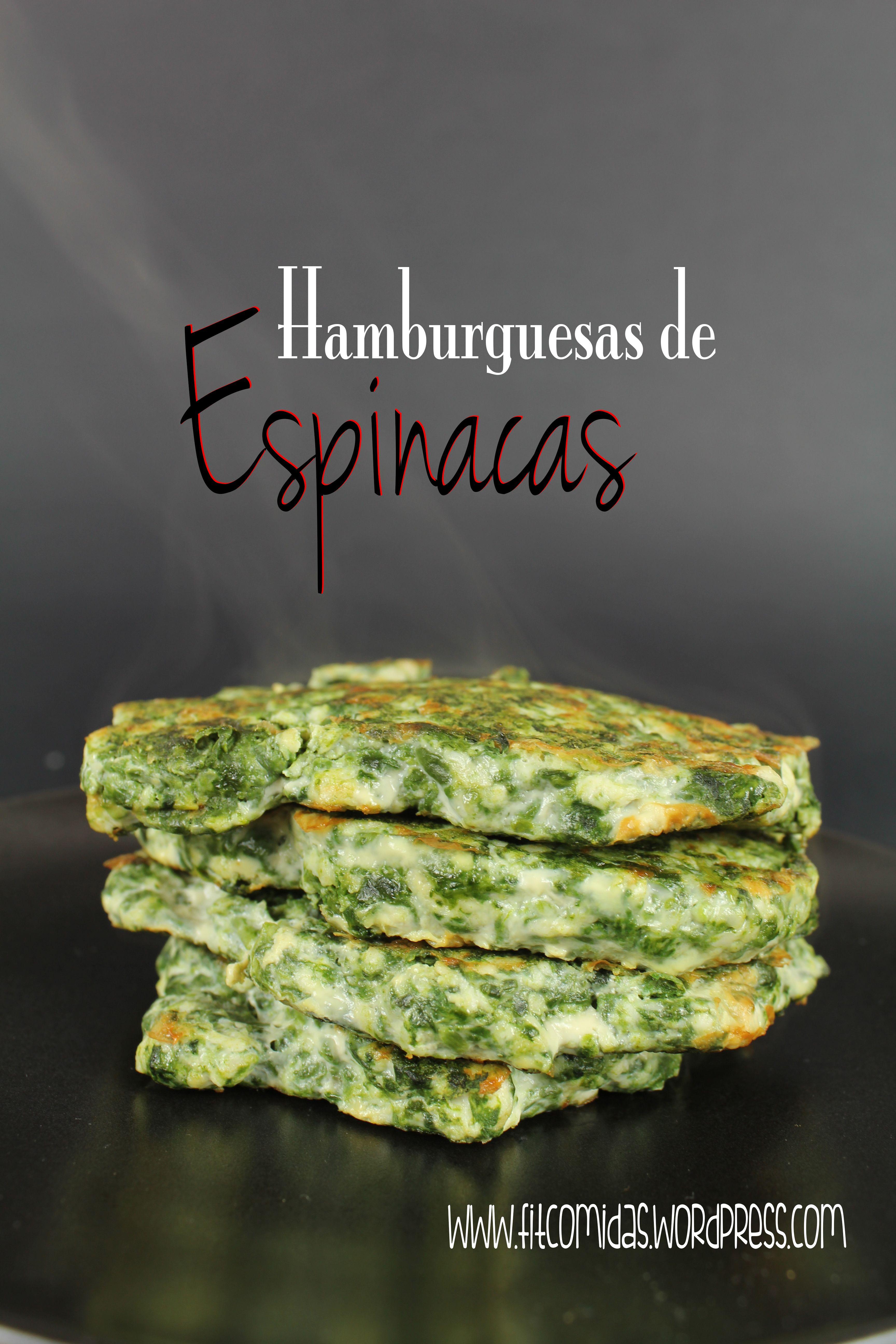 Hamburguesas de espinacas  Adelgazar  Dieta sana