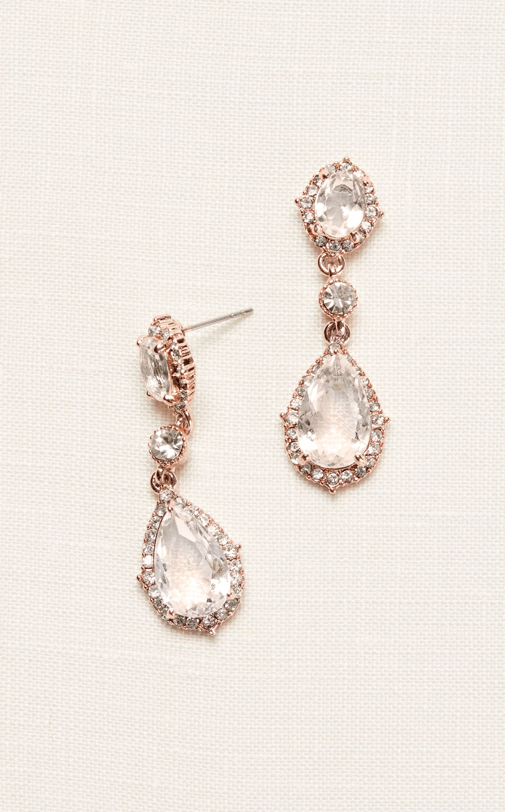 Filigree And Crystal Drop Earrings Homecoming Accessories At David S Bridal