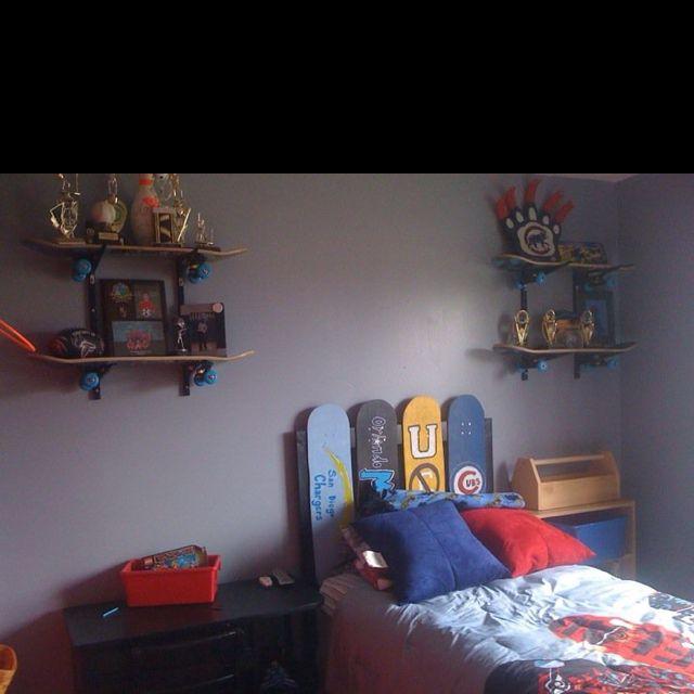 Skateboard Theme Bedroom Bedroom Themes Boy Decor Bedroom Trends