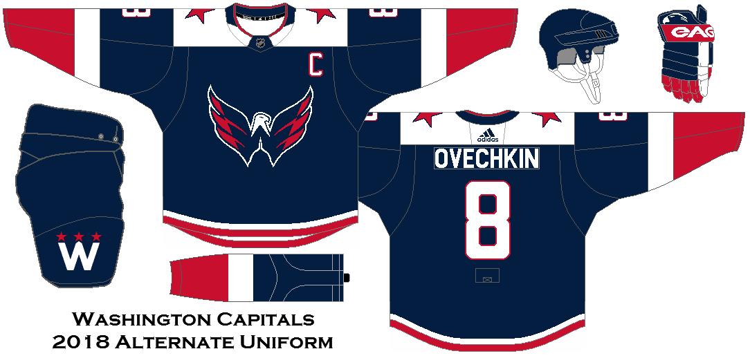 pretty nice 02d85 4cd5f 2018 NHL Alternate Uniform Concepts - Washington Capitals ...