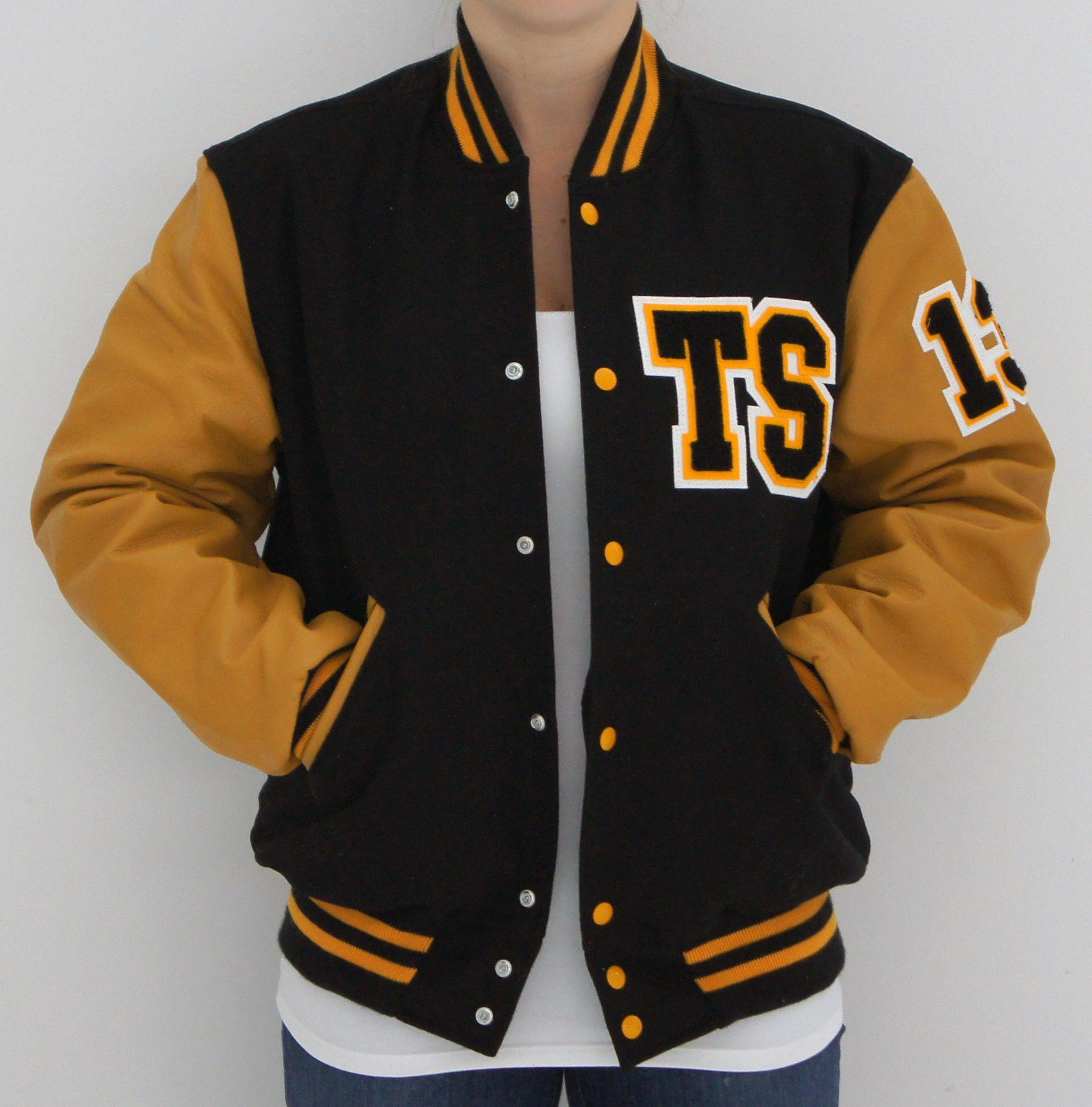 Black & Gold TS Letterman Tour Jacket: Taylor Swift Official Online Store