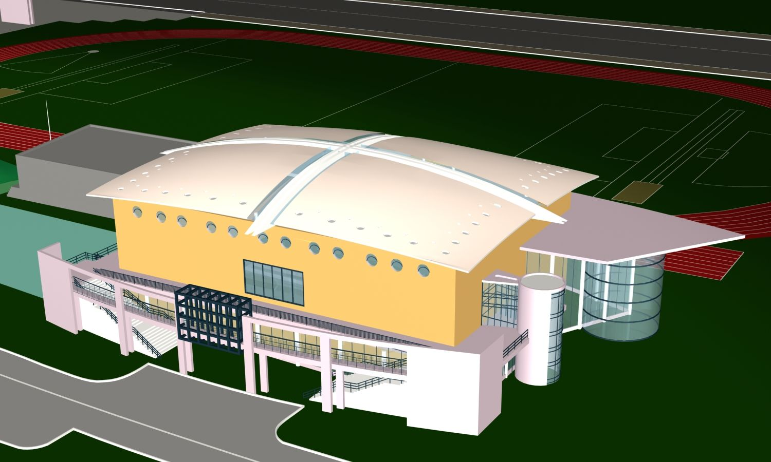 Stadium Design Drawing|Stadium|Arena|3D Ideas|Stadium section drawings Architecture  Projects Cad Drawings Download!!