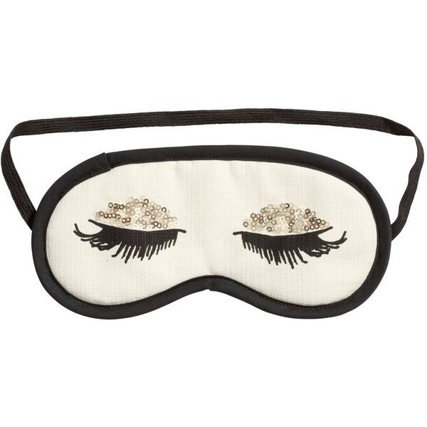 H&M Sleep mask (10 CAD) ❤ liked on Polyvore featuring intimates, sleepwear, pajamas, accessories, fillers, other, black, h&m, black pajamas and cotton pajamas
