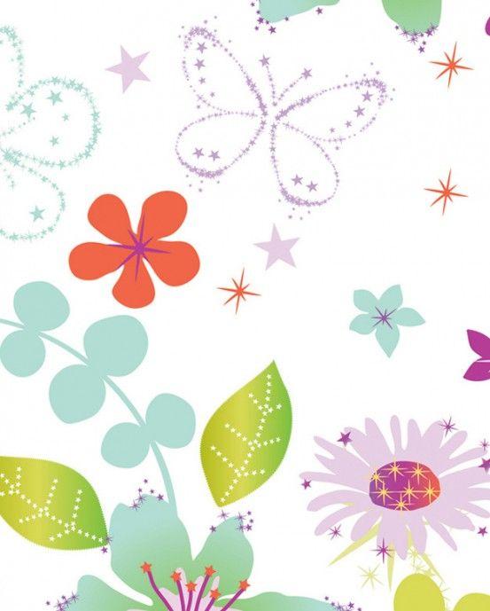 Tapete F 252 R Kleine Prinzessinnen Mit Schmetterlingen Und