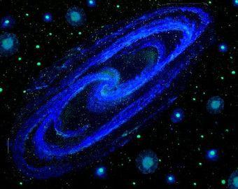 Star Ceiling Glow in the Dark Spiral Galaxy and by StellaMurals