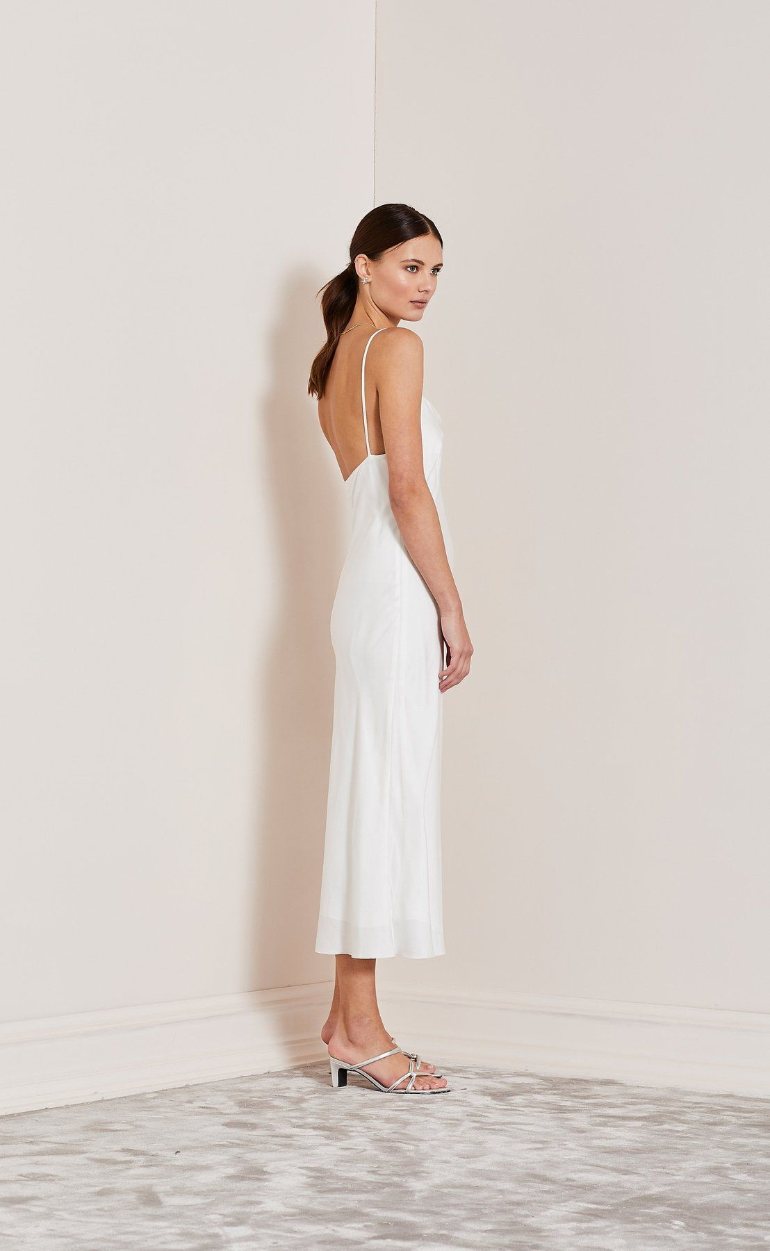 2a04315f10a2 Heartbeat slip dress - ivory | silk dresses | Dresses, Formal ...