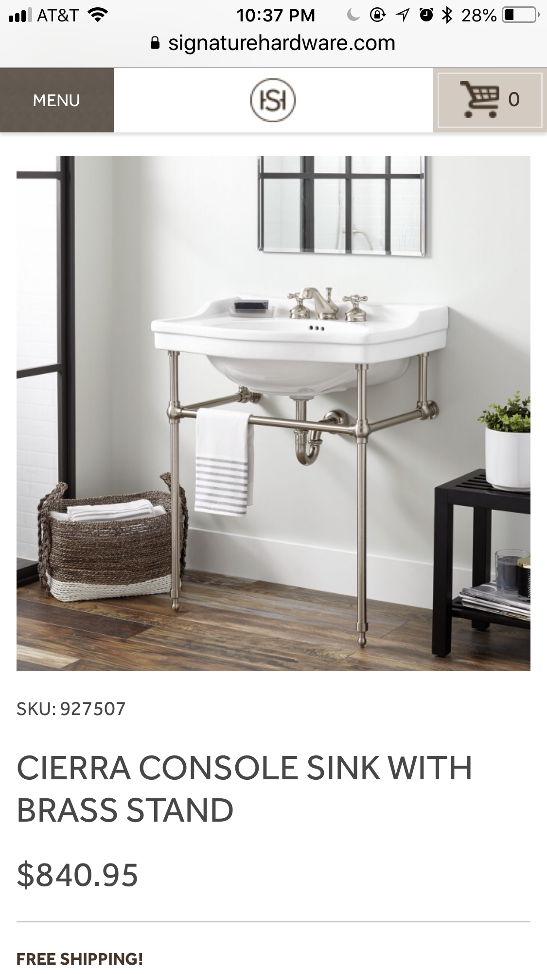 Pin by Allison Adams on Powder room | Console sink, Small ...