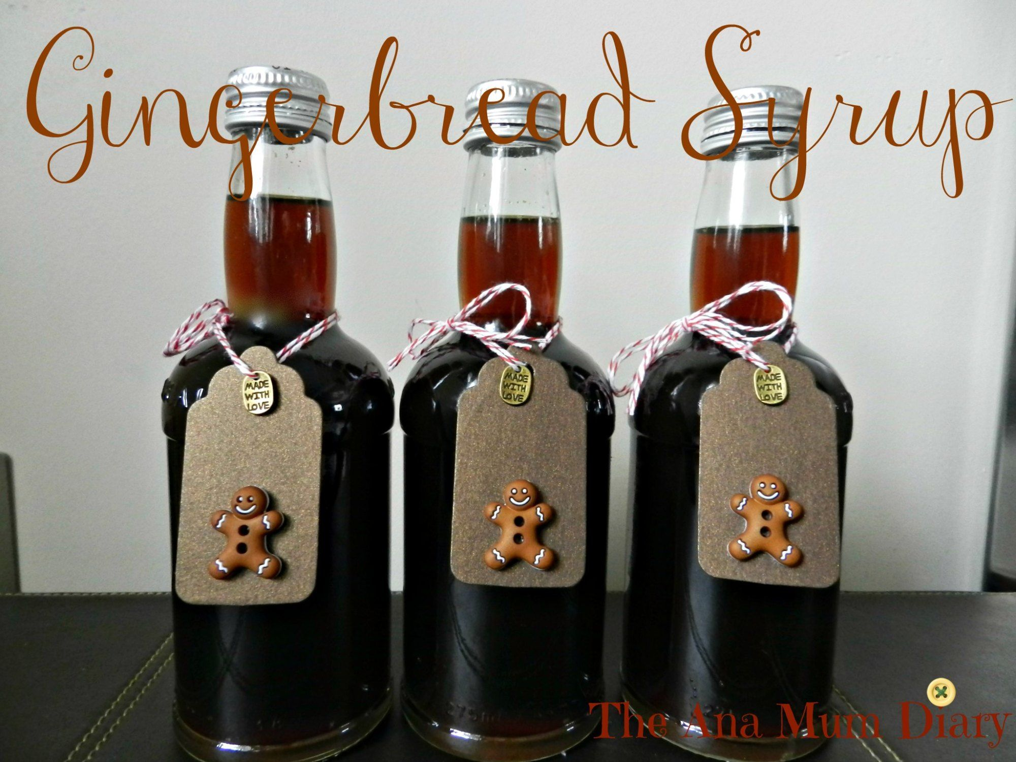 Gingerbread syrup for coffee homemade christmas gifts