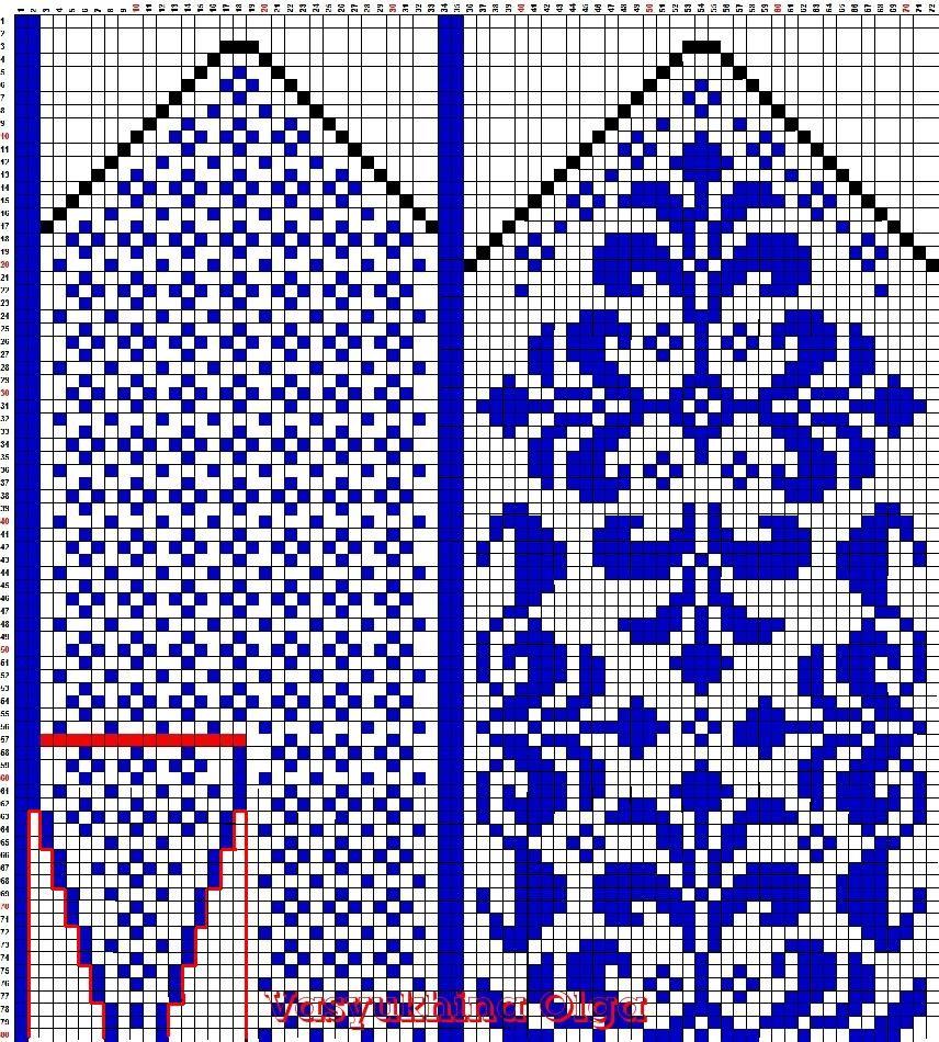 картинки и схемы для вязания варежек покупке