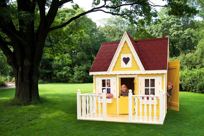 Promadino Set Spielhaus Schwalbennest mit Veranda: Amazon.de ...