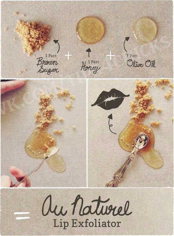 All natural organic lip exfoliator