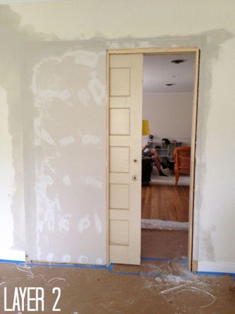 How to build a pocket door   Barn Doors   Pinterest   Pocket doors ...