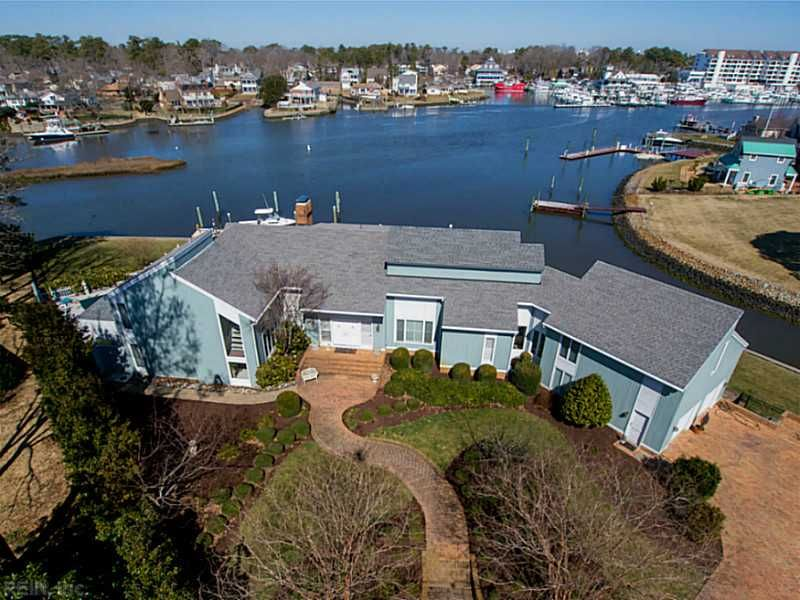 Harbour Pointe A Neighborhood Tucked Away On The Rudee Inlet Photo Courtesy Of Bhhs T With Images Virginia Beach Real Estate Waterfront Homes Luxury Homes Dream Houses