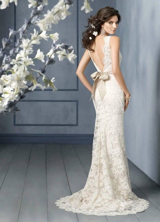 lace wedding dress dressed up girl backless lace wedding dresses are ...
