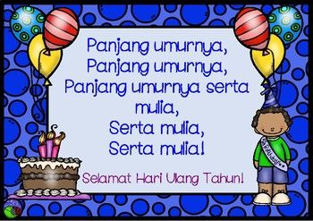 Happy Birthday Song In Bahasa Indonesia Lote Chart Indonesian