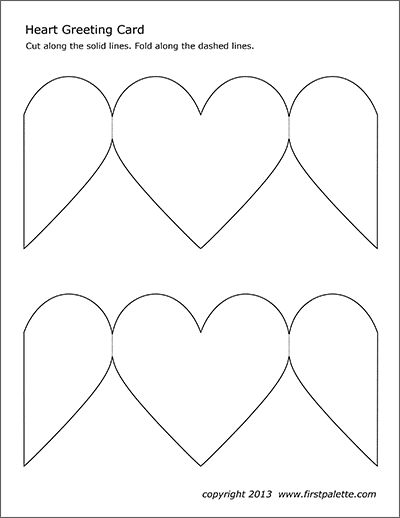 Heart Greeting Card Free Printable Templates Coloring Pages Firstpalette Free Printable Greeting Cards Valentine Card Template Printable Valentines Cards
