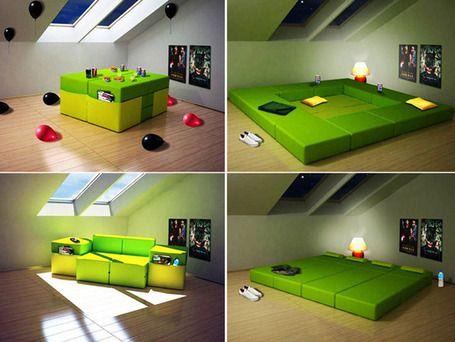 Modular Furniture Multi Purpose For Small Space Room | Furniture Design | Scoop.it