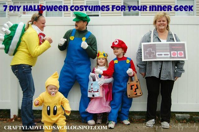 7 Diy Halloween Costumes For Geeks Mario Halloween Costumes Mario Bros Costume Mario And Luigi Costume