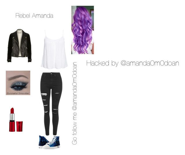 """""""Hacked by the bae"""" by sammydo ❤ liked on Polyvore featuring Topshop, New Look, River Island and Disney"""