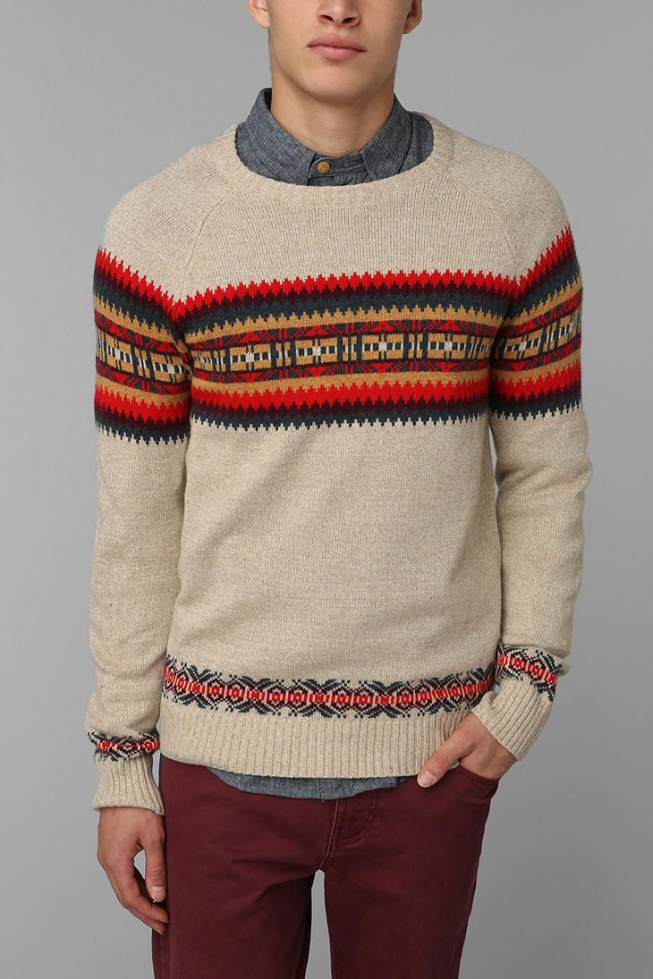 Hanlon Mills Placed Fair Isle Sweater