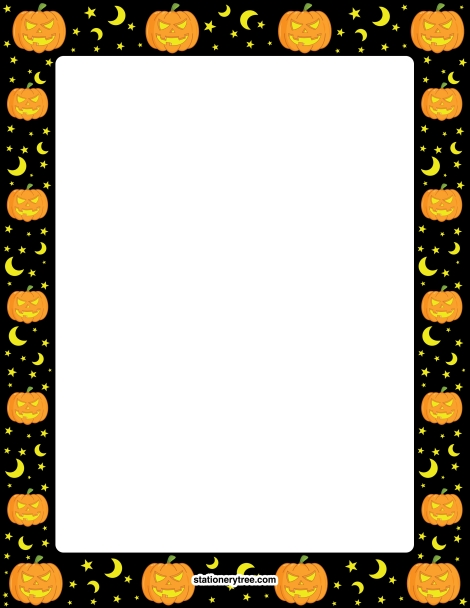 image regarding Free Printable Halloween Borders titled Pin through Muse Printables upon Stationery at