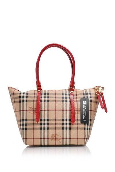a13629ce2fba -Burberry- Small Haymarket Check Salisbury Brightrose Tote Bag  Burberry   Handbag