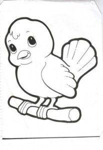 Bird Coloring Pages For Kids Preschool And Kindergarten Bird
