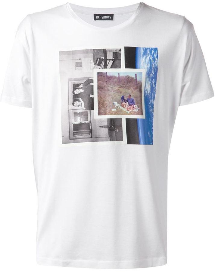 edd23b150 Raf Simons photo print T-shirt | 印花1604 | Designer clothes for men ...