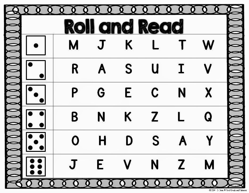 Roll And Read Letters Sounds