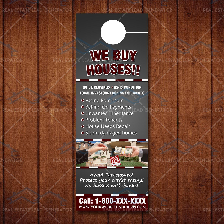 We Buy Houses Door Hanger 2 We Buy Houses Home Buying House Doors