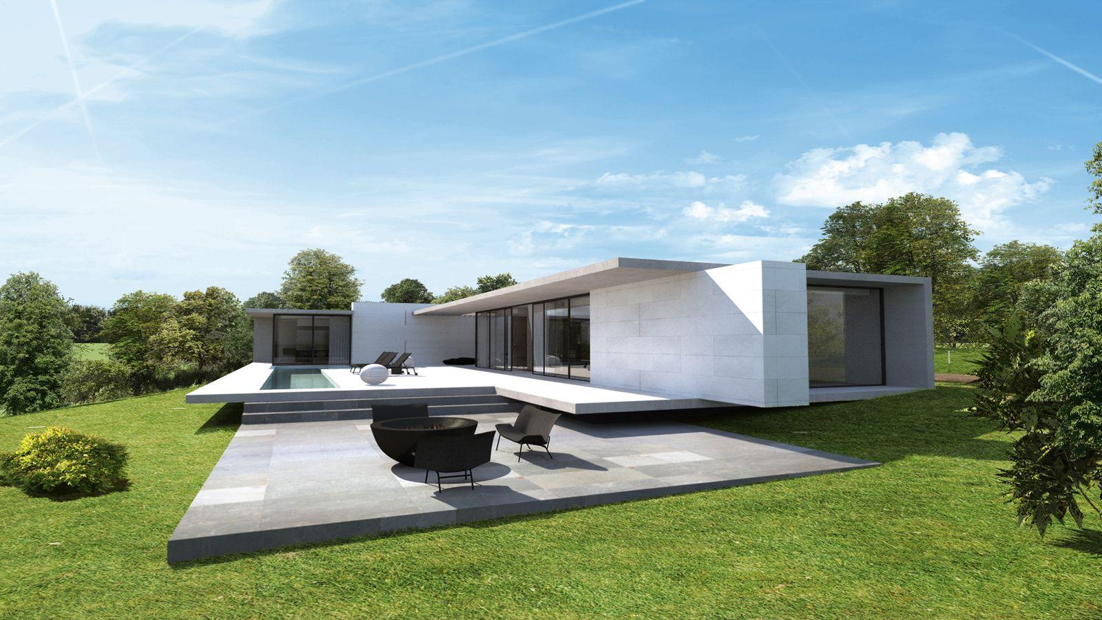 Maison design par Jean-Yves ARRIVETZ & Sébastien BELLE, architecte ...