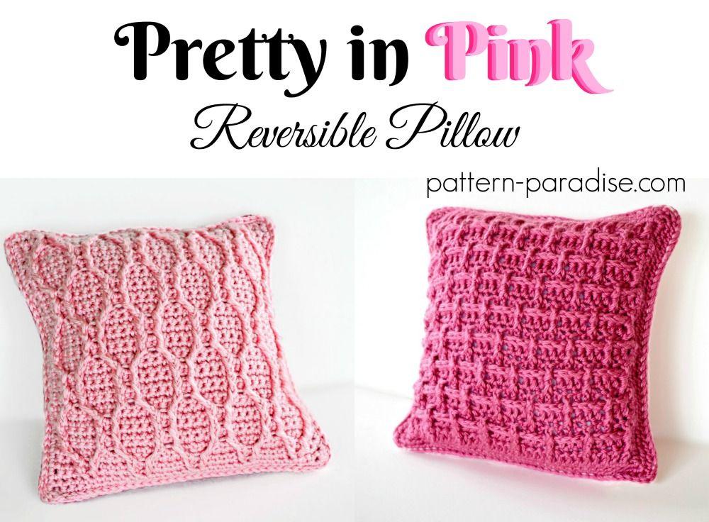 Free Crochet Pattern: Pretty In Pink Pillow (Pattern Paradise ...