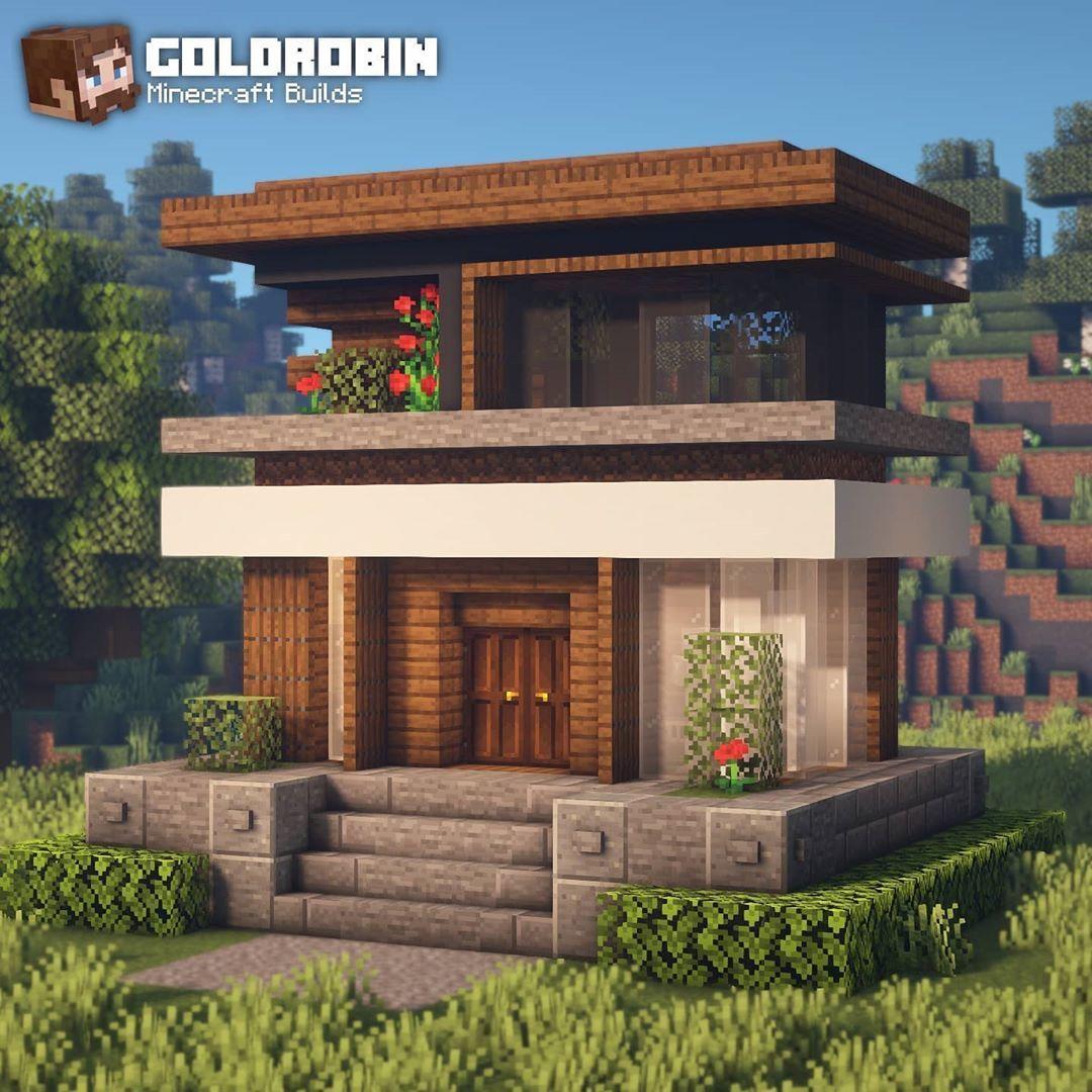 Goldrobin Minecraft Builder S Instagram Post Modern Survival House New Youtube Tutorial In 2020 Minecraft Architecture Minecraft Houses Cute Minecraft Houses