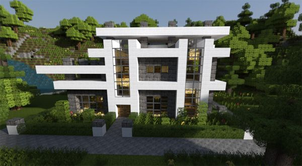Minecraft modern house simple design 9 on modern design for Maison moderne minecraft xbox one