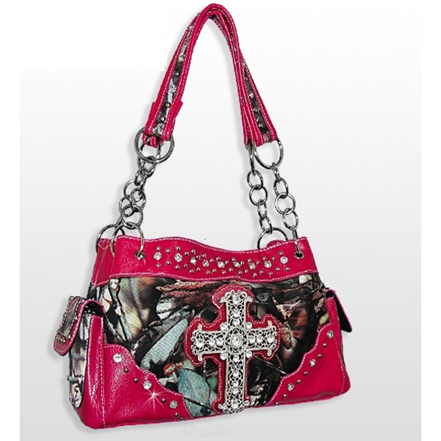 bnb natural camo inc hot pink camo fashion cross purse