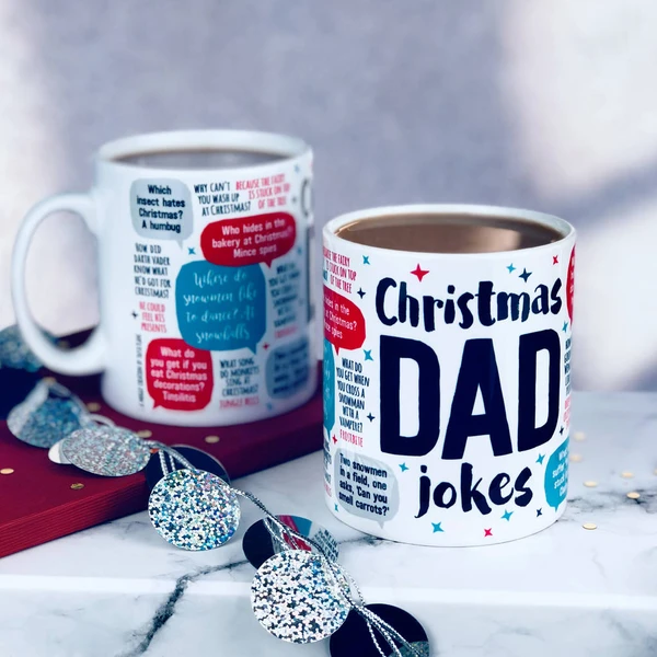 Christmas Dad Jokes Mug in 2020 Dad jokes, Christmas
