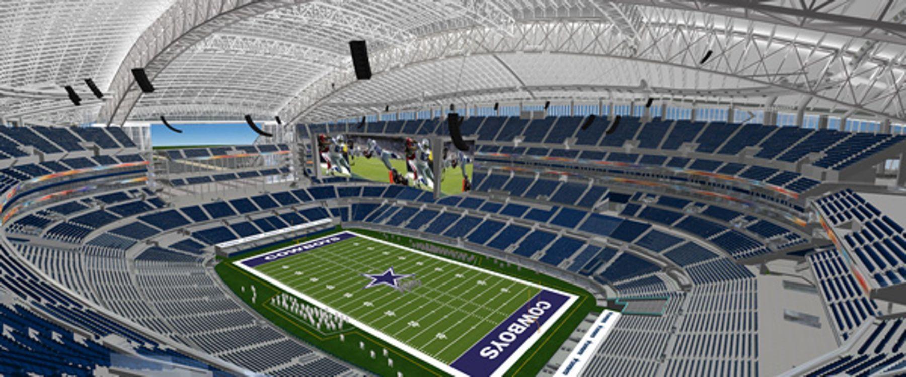 Unreal Architecture Cowboys stadium, Cowboy games