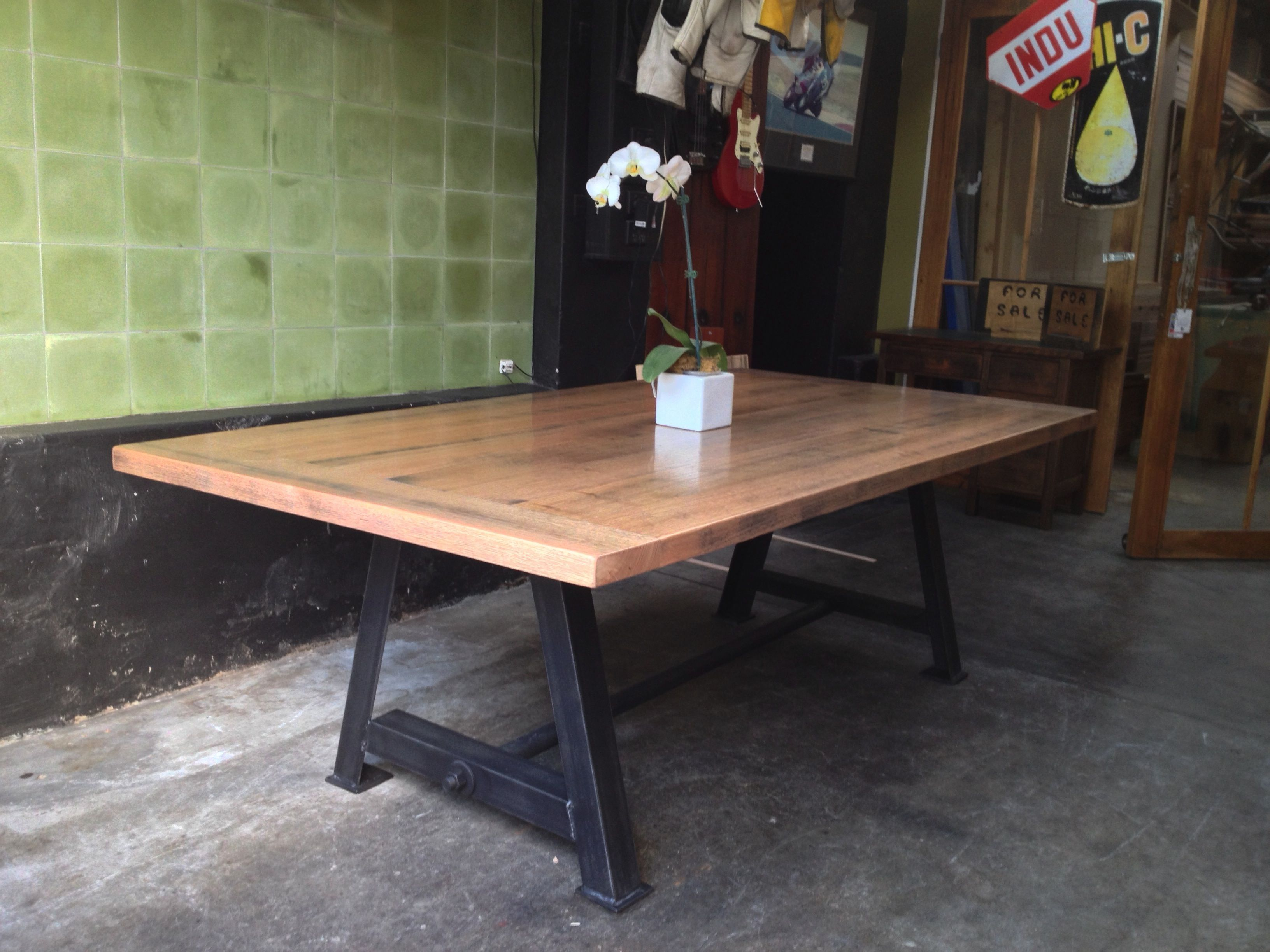 Made In Melbourne, Custom Sizes Available, Worth Calling. A Frame  Industrial Table. Marble Top Dining ...