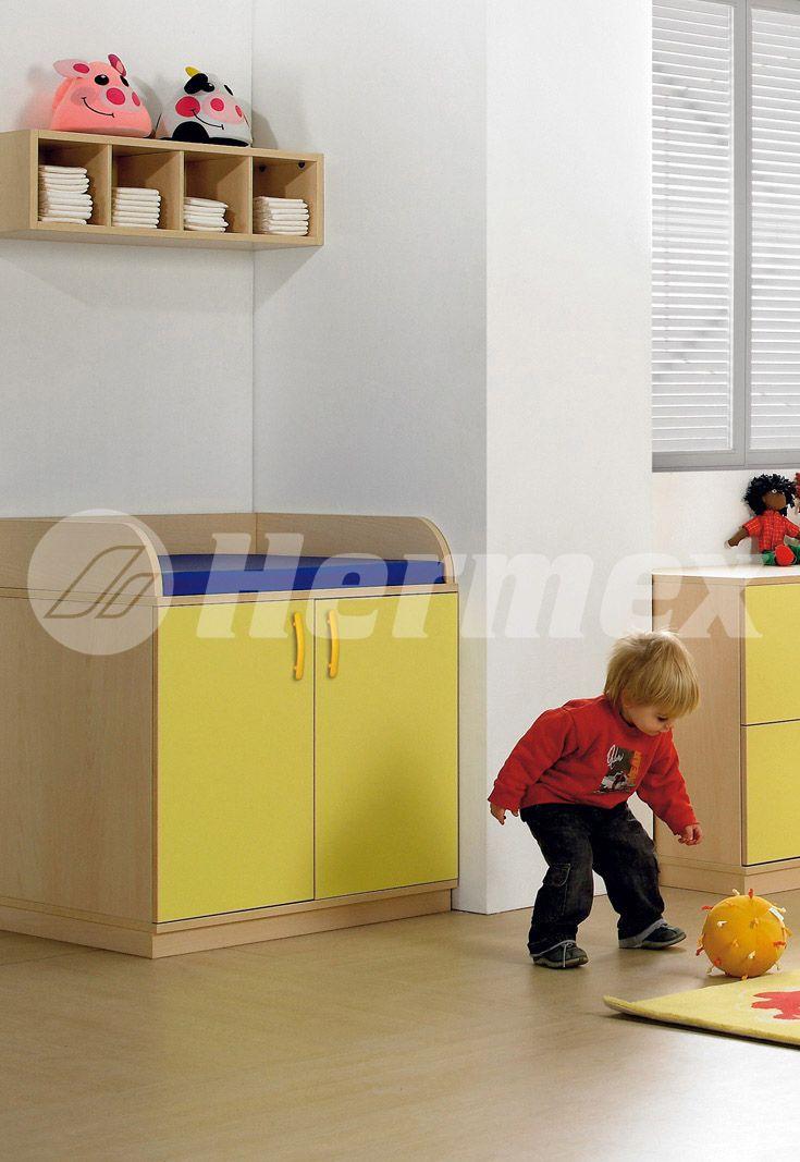 Mueble cambiador para guarderias | Muebles escolares | Pinterest ...