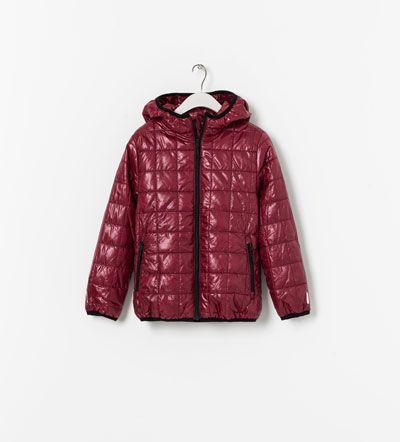 Zara Boys 118 Kurtka Zip Quilted Bordeaux Zara Boys Zara Winter Jackets
