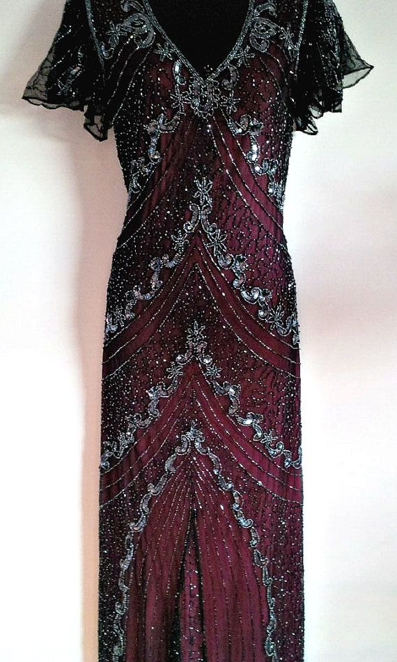 524b9b48248 Abbey Vine Red Embellished Sequin Dress 1920s Great By Jywal