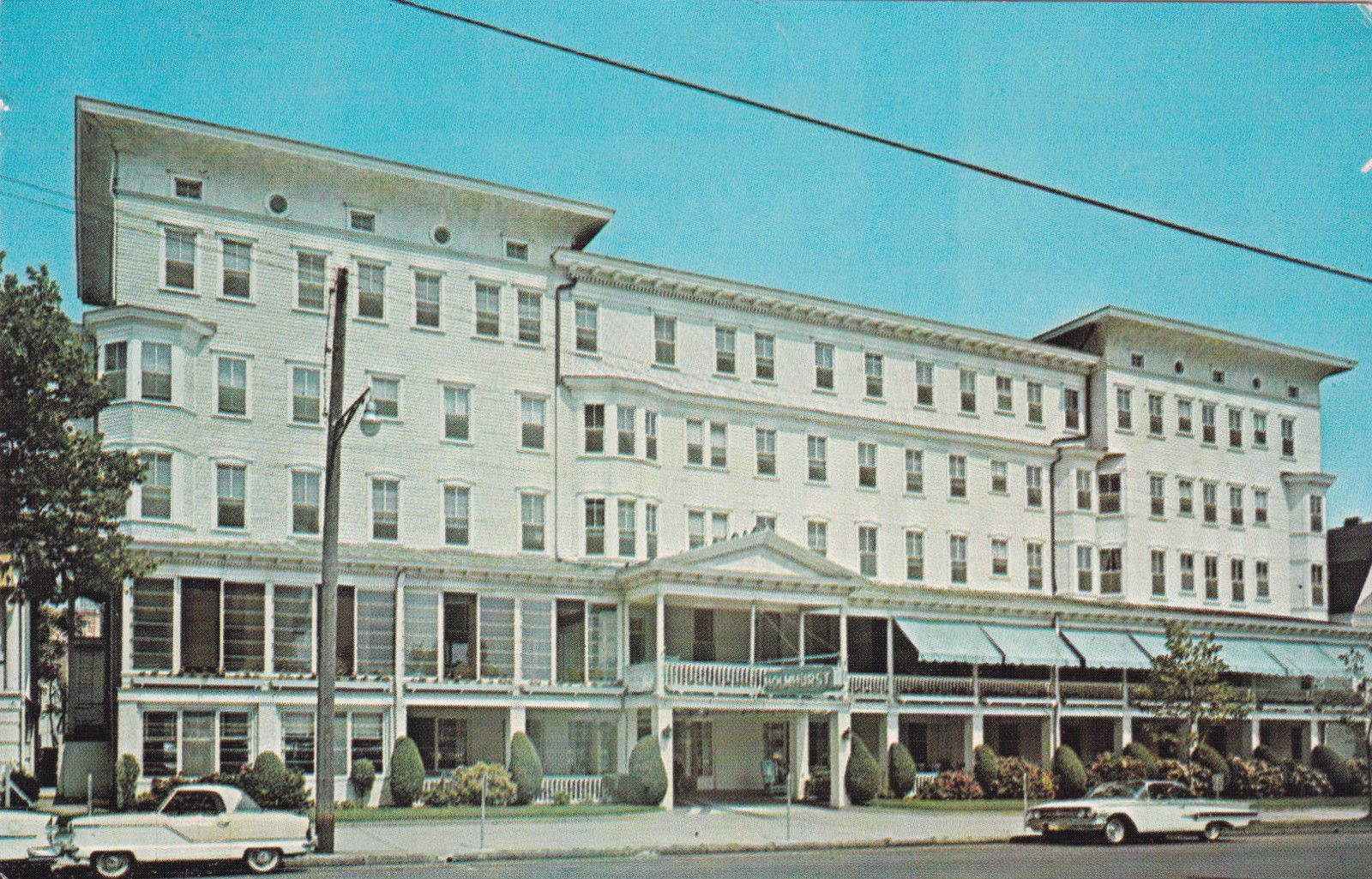 New Jersey Atlantic City Holmhurst Hotel 1960s
