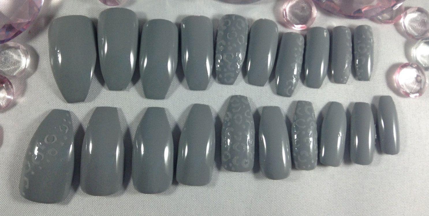 Matte nails~press on nails~fake nails~false nails~glue on nails ...
