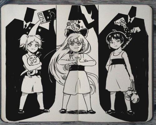 Powerpuff Girls (by Gabriel Picolo aka 365-DaysOfDoodles on deviantART)