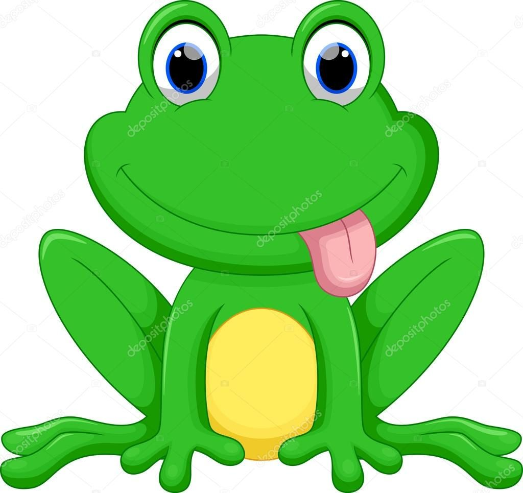 Niedliche Frosch-cartoon — Stockvektor © irwanjos2